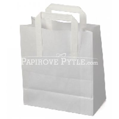 Papírová taška bílá 22x34x10cm