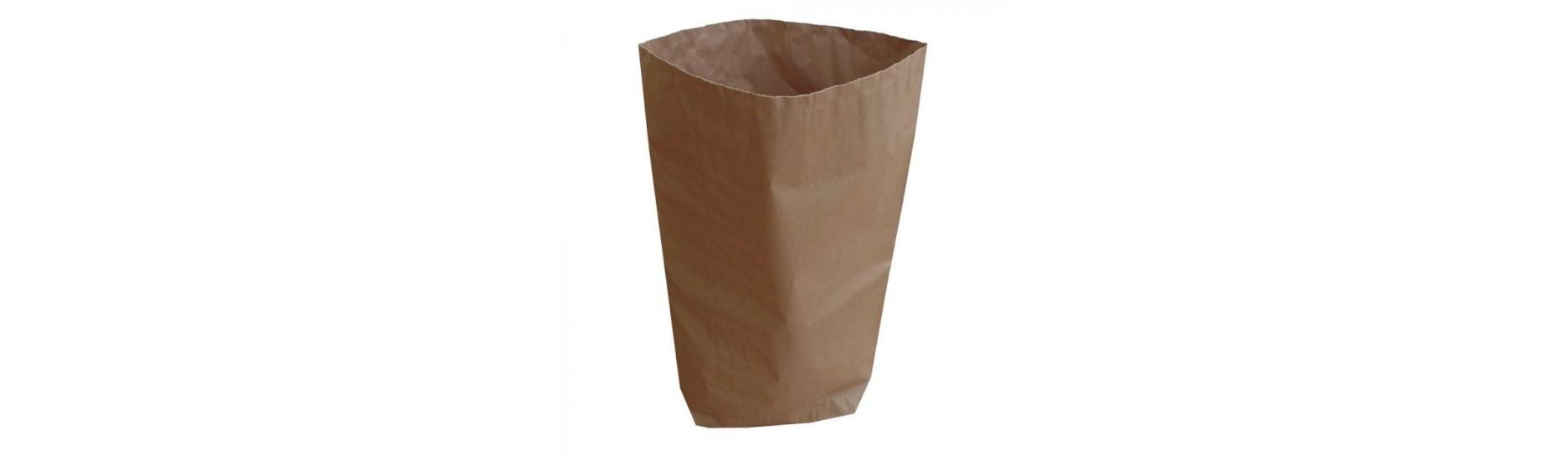 Otevřené papírové pytle (open paper sack) dvouvrstvé jejich dno je z jedné strany uzavřeno.