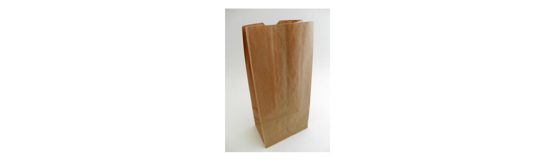 Papírové sáčky s bočními záložkami neboli s bočním záhybem. Papírové sáčky slouží převážně k balení menších výrobků, do kanceláře, k odnosu nákupu, dřevěné uhlí, pro nejrůznější malospotřebitelská balení, krmivá pro zvířata, granulát, mouku apod.