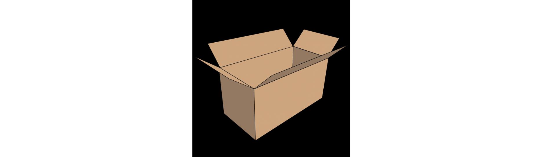 Kartonová krabice třivrstvá, fefco 0201, papírová, klopová, lepená